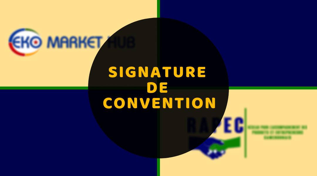 Signature de Convention avec Eko Market HUB
