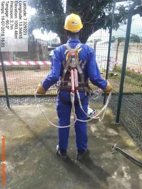 Stagiaire sur le chantier qui se prépare pour le RSS (Remote Site Supervision).
