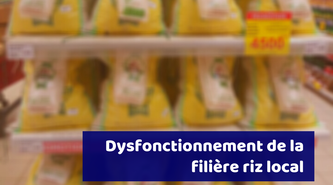 Dysfonctionnement de la filière riz local