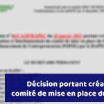 Décision portant création du comité de déploiement du FOFIE