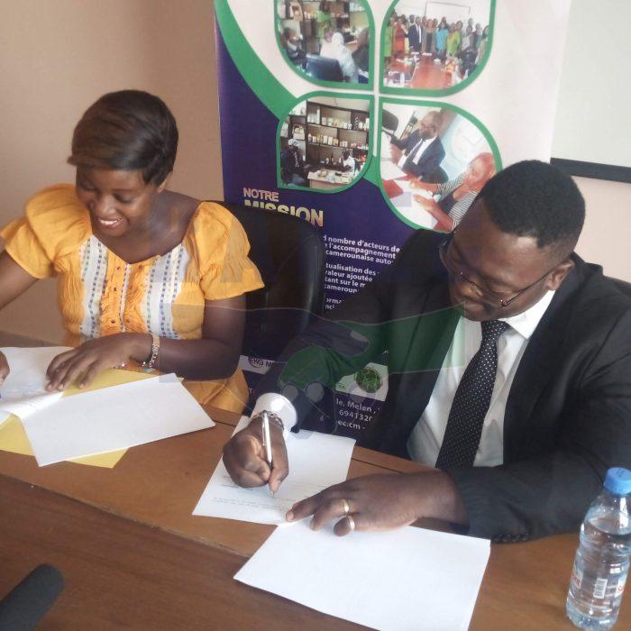 Signature de convention RAPEC - Eko Market HUB